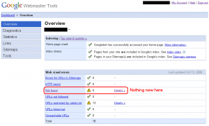 Google Webmaster Tools Overview