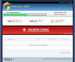 Initial view of a webpage that installs Antivirus 2009