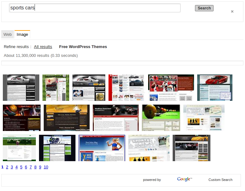 Find Free WordPress Themes with Google Image Search